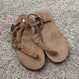 Brand new rainbow braided sandals